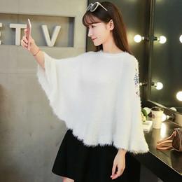2019 suéter de mohair damas Nuevo suéter casual de invierno para mujer, suéteres sueltos de manga larga, abrigo de suéter de mujer de mohair sólido con camisa de murciélago suéter de mohair damas baratos
