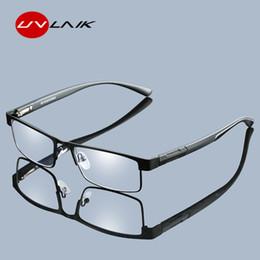 Мужчины Очки для чтения из титанового сплава Несферические линзы с 12-слойным покрытием Ретро-бизнес Дальнозоркость Очки по рецепту от