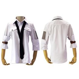 Argentina Cool Man Game Battlegrounds camisas blancas conjunto corbata de cuero Cuff cosplay disfraces cinturón uniforme traje Suministro