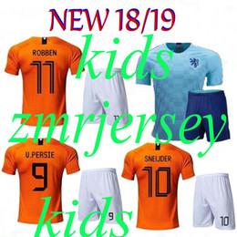 Thai quality 2018 2019 Netherlands soccer Jersey robben MEMPHIS V.PERSIE  SNEIJDER Home orange Away blue Football uniform. 597f0c999