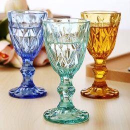 occhiali da cristallo Sconti Set di bicchieri da vino da 50 ml 6 pezzi Bere bicchiere da festa di matrimonio 1,7 once Bicchieri da vino da bere colorati Vetro ispessito di spirito europeo
