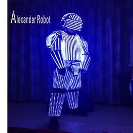 costume del robot Sconti Costume bianco LED / LED Abbigliamento / Light vestiti / vestiti robot LED / robot bianco