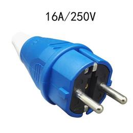 Deutschland 2 stücke EU Schuko Wasserdichte Industrie Sicherheit Stecker 16A 250 V IP54 CE Universal Wasserdichte Stromanschlussbuchse Versorgung