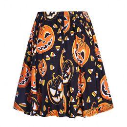 2019 seltsame pflanzen Frauen Neuheit Halloween Kleidung Drucken Mode Röcke Faldas Mujer Elastische Taille Damenmode Streetwear Rock
