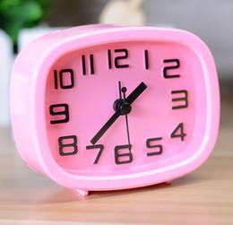Relógios de pulso on-line-Versão coreana de relógios diários Candy-colored 3D relógio digital estéreo rosto pequeno longo despertador