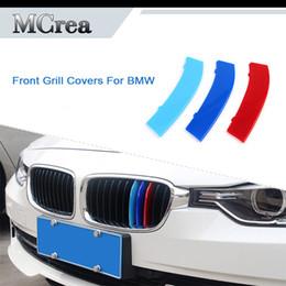 2019 voiture de grillade 3pcs voiture Motorsport emblème autocollants pour BMW série 5 E60 E39 F10 G30 2018 2017 F07 Grill Grill couvre M Performance Accessoires voiture de grillade pas cher