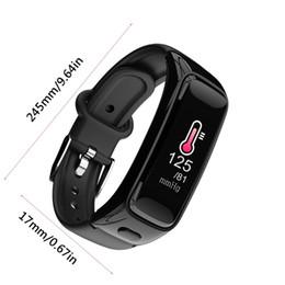 2019 medidor de ips B51 Pulsera Inteligente 2 en 1 Auricular Bluetooth Llamada Medidor de ritmo cardíaco Paso Presión arterial impermeable Reloj deportivo 0.96 pulg. IPS medidor de ips baratos