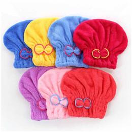 оптовые персы для волос Скидка Шапочки для душа Magic Quick Dry Шапочки для волос из микрофибры Полотенцесушители в тюрбанах Шапки-шапочки Спа-ванны