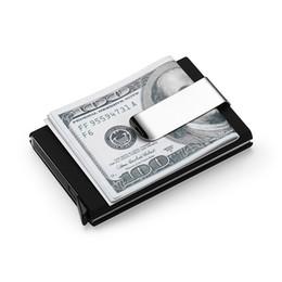 2019 tarjeta de crédito billetera de aluminio Monederos de alta calidad de los hombres de Qualitid Créditos Automáticos Negocios Carpeta de aluminio Conjuntos de tarjeta Clip Holder C19041201 rebajas tarjeta de crédito billetera de aluminio