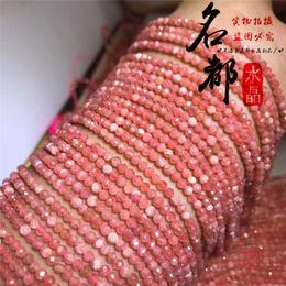 rote bandarmbänder Rabatt Natürlicher Kristall 5A Red Ribbon Faced Bead Diy handgefertigte kreative Accessoires Armband, Fußkette und Schlüsselbeinkette