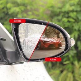 2019 prado aufkleber Auto Wasserdichte Anti Fog Film Rückspiegel Film Aufkleber Fenster Klar Aufkleber Für Toyota Camry CHR Corolla Highlander Prado RAV günstig prado aufkleber