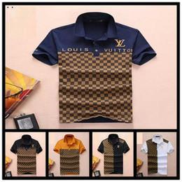 2019 kleid t-shirts Herren Polos Shirts ungefüttert Oberbekleidung aus Baumwolle qualitativ komfortable atmungsaktive Kragen Kurzarm T-Shirt.8 Farben M-3XL Größe günstig kleid t-shirts
