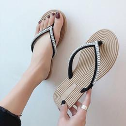 perle di boemia Sconti 2019 Infradito da donna String Bead Sandali estivi Pantofole piatte Scarpe da spiaggia Pantofole Bohemian da donna Infradito da spiaggia
