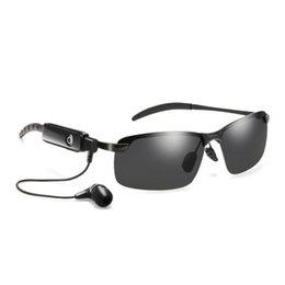 Manos libres manos libres mp3 player online-Nuevas gafas de sol inalámbricas con Bluetooth Auriculares con Bluetooth gafas de sol estéreo auriculares inalámbricos deportivos auriculares manos libres reproductor de música mp3