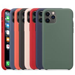 Silicone liquido originale Case for iPhone SE 11 Pro Max Xs Xr X caso ufficiale Silky Soft-Touch per l'iPhone 7 8 Inoltre 6s 6 con la scatola di vendita al dettaglio da bastone nero della mela fornitori