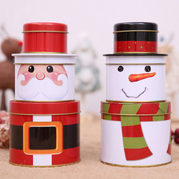 casi di latta natale Sconti Contenitore portatile di latta di Natale Set regalo Candy Cookie Storage Seal Cases Scatole Bomboniera Tin Jewelry