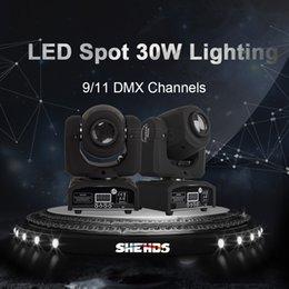 cabeça movendo eua luz Desconto SHEHDS LED 30W Gobo ponto Moving Head Light DMX 512 Stage Luz Dj Disco Party Effect Lighting