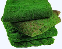 pianta artificiale Sconti Erba artificiale prato finto muschio simulazione verde vegetale parete muschio fogliame artificiale per la decorazione domestica di nozze