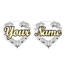 (Ordre N'importe quel nom) Heurtoir de porte de style célébrité personnaliser nom personnalisé coeur boucles d'oreilles en bambou ? partir de fabricateur