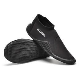 2019 scarponi da immersione Scarpe da nuoto 3mm SCR Neoprene Scuba Diving Boots Anti-freddo antiscivolo Skid Tenere caldo pesca pinne invernali sconti scarponi da immersione