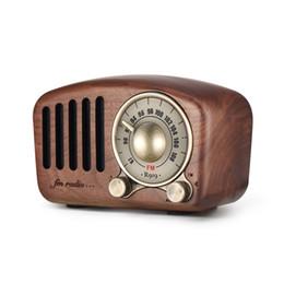 Argentina Altavoz Bluetooth retro de madera de nogal con estilo antiguo, estilo clásico, radio FM, mejora de graves fuertes, volumen alto, reproductor de MP3 con tarjeta TF Suministro