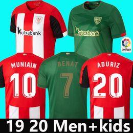 2019 entrenamiento de sombrero negro 19 20 Bilbao Camiseta De Fútbol Jersey MUNIAIN WILLIAMS Camisa I.MARTINEZ kit del ADURIZ Traje hogar lejos camiseta de fútbol