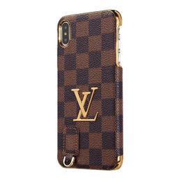 2019 celulares de vendas Hot-venda de luxo designer de casos de telefone para iphone x xr xs max alta qualidade pu couro celular capa iphone6 6 s 7 6 splus 8 plus frete grátis celulares de vendas barato