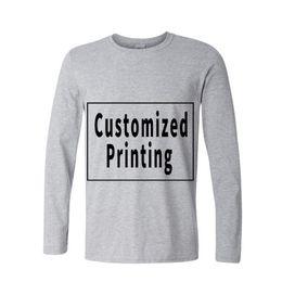 Argentina Manga larga de algodón Privado Masculino Camisetas Personalidad Foto Foto Logo Impreso Impresión Personalizada Camisetas Envío Gratis Suministro