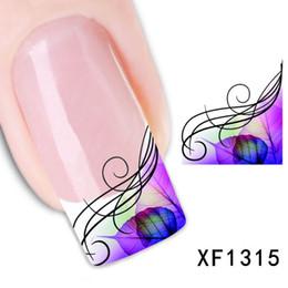 2019 tipi di chiodi 1 fogli Moda Tatuaggi Adesivi Bellezza Filigrana Francese Nail Art Decalcomanie Suggerimenti Stamping Salon Water Transfer Decalcomanie XF1315