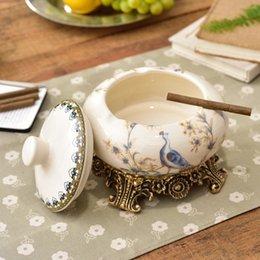 Wohnaccessoires & Deko Ashtray Home Keramik Aschenbecher Kreative Persönlichkeit Retro Hauptdekorationen Wohnzimmer Retro Ornamente