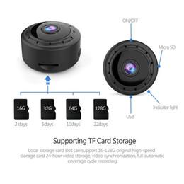 2019 alarma dvr de red Ranura para tarjeta de cámara de seguridad Inicio MINI WIFI 1080P IP inalámbrica nocturna por infrarrojos CCTV Pequeño movimiento de la visión Detección SD Audio APP