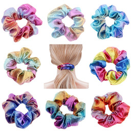 Fasce eleganti online-Laser Girls Hairbands Elegante Elegante Ponytail Elastico Ponytail Ponytail Cravatta Capelli Band Moda Donna Lady Kids Fascia Capelli Accessori HHA603