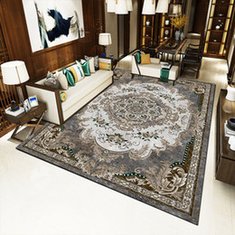 Florale klassische teppiche online-Retro Persian Blumenteppich Rutschfester Waschbarer Teppich für Schlafzimmer Wohnzimmer Küche Bester Preis