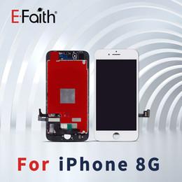 Бесплатный телефон apple онлайн-Класс A +++ Качество ЖК-Дисплей Для iPhone 8 ЖК-Дисплей Сенсорный Дигитайзер Ассамблеи Ремонт Замена Для Телефона 8 Бесплатная Доставка DHL
