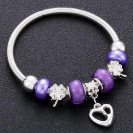 Árvore de vida original em forma de coração charme pulseiras para mulheres contas de vidro marca pulseira pulseira diy jóias presentes de