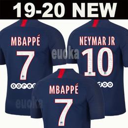 Juegos de kit de fútbol online-19 20 AIR PSG JORDAN camiseta de fútbol 2019 2020 camisa Paris Saint Germain NEYMAR JR MBAPPE soccer jerseys camisa cavani Survetement futebol kit CHAMPIONS camisa de futebol