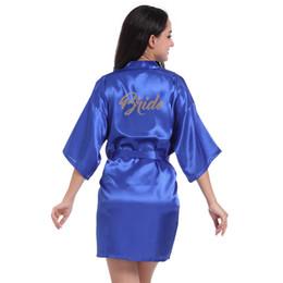 mini bathrobe Promo Codes - sexy bath kimono robe sleepwear bridesmaid 3 4  Sleeve mini lingerie 0fc84d283