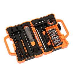 Conjunto de herramientas electrónicas online-JAKEMY JM-8139 45 en 1 del destornillador de kit de reparación de herramientas de la abertura para el teléfono móvil del ordenador electrónico Mantenimiento ZZA1443