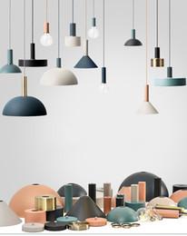 2019 lampadari sferici Nordic loft semplici luci del pendente E27 LED design moderno fai da te lampada a sospensione creativo per camera da letto soggiorno cucina del ristorante paralume