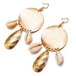 2020 insieme degli orecchini della collana della stella Imposta Pearl stelle marine di Shell orecchini per le donne Il nuovo modo collane del pendente di 18 stili di BOHO Ocean Beach commercio all'ingrosso dei monili insieme degli orecchini della collana della stella economici
