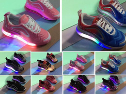 Argentina 2019 más nuevo 720 niños transpirable zapatillas de correr 720 s Led luminoso niños toddler Cushioning Athletic zapatos brillantes 24-35 supplier toddler cushion Suministro