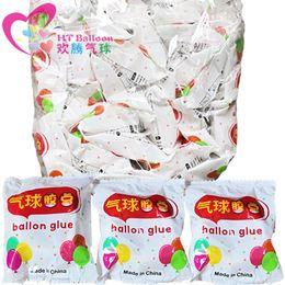 Party punkte für ballons online-100 Punkte Ballon-Kleber Dot Befestigung Befestigen Balloons Adhesives Aufkleber Hochzeit Geburtstag Partei DIY-Ballon-Wand-Dekor-Supplies