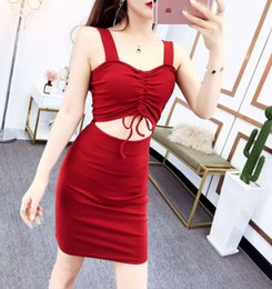 e23d7b6fe39d 4 Colors New Korean Fashion Dress Spring and Summer 2019 Women Wear Youth  Sexy Show-waist Slim Short Skirt QC0141