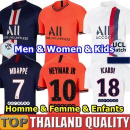 2019 uniformes de paris maillots de football PSG 19 19 maillots de foot Ensemble 2019 2020 Paris Saint Germain Champion NEYMAR MBAPPE ICARDI Hommes femmes kit pour enfants uniforme promotion uniformes de paris