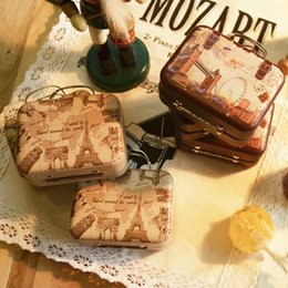 коробка с ящиком для чемоданов Скидка 24PCS Rectangle Travel Suitcase Handbag Tin Boxes Party Favors Baby Shower Table Chocolate Setting Decor Supplies