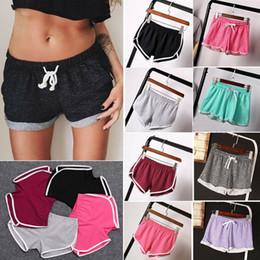 Pantalones cortos de yoga de las mujeres calientes online-Pantalones cortos para mujer Pantalones cortos para correr, deportes, correr, practicar yoga, gimnasia, yoga