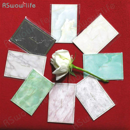 Mini tarjetas de deseos online-35pcs Mini tarjeta de estampado de oro marmoleado Mini tarjeta de felicitación creativa simple Tarjetas de boda Deseos de cumpleaños Navidad