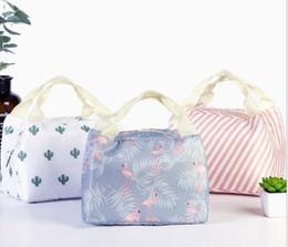 5 Estilos Novo padrão geométrico Lunch Bag Tote Bag Almoço Organizador Lidar Com Isolamento Frio Piquenique Caixa De Armazenamento De Alimentos Caixa de Lona Térmica de Fornecedores de caixa de almoço