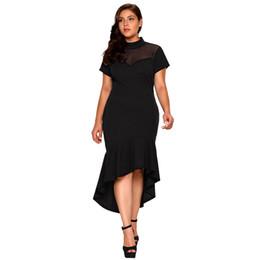 Ropa sencilla online-Ropa para mujer Vestidos de fiesta Código grande de verano Irregularidad Diseñador Vestido Vestidos lisos de cuello alto a la moda