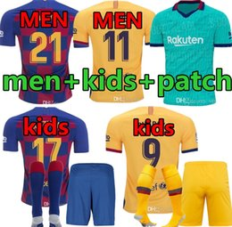chaqueta de ozil Rebajas Men + niños kit Barca de Barcelona Jersey 2019 2020 chicos JUVENTUD SUAREZ MALCOM PIQUE ARTHUR VIDAL hogar lejos tercera fútbol jerseys